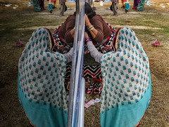 Reflection (SaumalyaGhosh.com) Tags: people faceless bus glass color colors india kolkata street streetphotography women sari