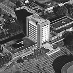 Aerial of Erdahl-Cloyd, DH Hill and the Brickyard in 1980.