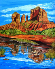 Cathedral Rock Sedona (happyespi17) Tags: arizona cathedralrock oil painting art landscape arizonaart sedona sedonaart oilpainting atlantaartist cubanartist