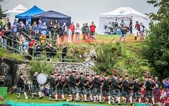 Pipeband Entrance (FotoFling Scotland) Tags: event gathering highlandgames isleofskye pipeband piper portree portreehighlandgames scotland kilt scottish fotoflingscotland