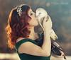 (Cristina Laugero) Tags: love amore princess barbagianni principessa red bacio kiss barnowl romantic romantico baiser chathuant favola princesse princesa lady