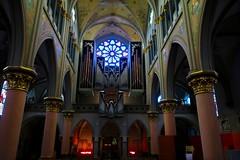 Esch/Alzette - Eglise St-Joseph (godran25) Tags: europe luxemburg luxembourg eschsuralzette esch église saintjoseph church orgue organ orgues 2018 intérieur indoor vitrage vitraux rosace