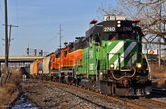 "Eastbound Transfer in Kansas City, MO (""Righteous"" Grant G.) Tags: bnsf railway railroad locomotive train trains east eastbound emd power bn burlington northern kansas city missouri transfer"
