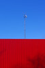 Beep (Mister Day) Tags: red minimal less blue tower