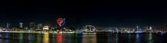Hamburg Skyline Firework (Christian Möller) Tags: hamburg stpauli elbe hafen fluss harbour river feuerwerk fireworks night lights elbphilharmonie capsandiego rickmerrickmers michel stmichaelis landungsbrücken elbtunnel