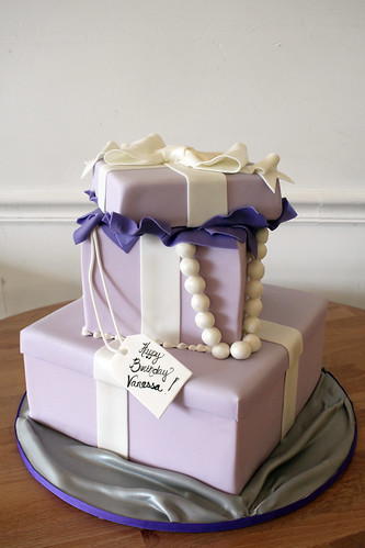 2-tiered Lavender Gift Box Birthday