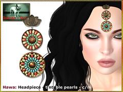 Bliensen - Hawa - Headpiece (Plurabelle Laszlo of Bliensen + MaiTai) Tags: jewelry arabian indian boho gypsy vintage headpiece tiara necklace bliensen tcf