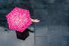 Rain Check... (iain blake) Tags: umbrella rain rainy day pink beauty beautiful woman london nikon d4 50mm
