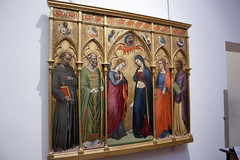 Annunciation with saints and an evangelist by Luca di Tomme - Uffizi - Florence (rfzappala) Tags: europe europa italy italia tuscany toscana 2016 florence firenze uffizi gallery museum annuncation saints evangelist luca di tomme