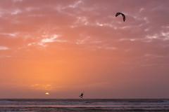 Kite (Philippe POUVREAU) Tags: vert kite kitesurf saintbrevin ocean plage beach 2017 paysdelaloire atlantique cote wave sunset soleil jump saut loireatlantique winter hiver wind vent