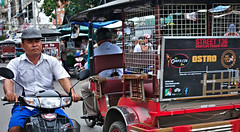Busy Side Street (CAMBODIA) (ID Hearn Mackinnon) Tags: cambodia cambodian 2017 south east asia asian phnom penh taxi tuk tuktuk motorbike motorcycle street side urban city road traffic busy people culture society