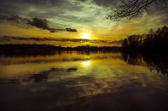 Great Sunset Dreiländersee #18.2.2018# (Kalbonsai) Tags: dreiländersee waterscape skyscape germany color clouds sunset