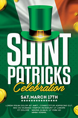 St. Ptricks Day Flyer Template (AyumaDesign) Tags: american advertising abstract art ads event eventflyer elegant simple stpatricks saint saintpatricks saintpatricksday irish ireland green graphicdesign flyer flyertemplate flyerparty festival flyerdesign flag coin gold hat poster party posterdesign promote printdesign print spring equinox