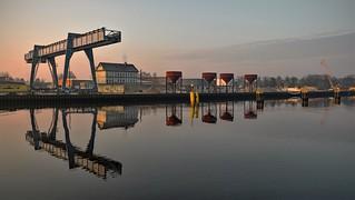 Oldenburg harbour, the Rhein-Umschlag facilities