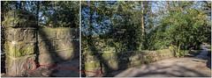 CUT BENCHMARK -BRIDGE OVER MEANWOOD BECK-MEANWOOD PARK.-- (I.K.Brunel) Tags: