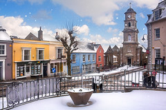 A Penryn Christmas Card (Andrew Hocking Photography) Tags: penryn towncentre millers christmas card winter snow beastfromtheeast stormemma townclock townhall xmas 2018 street cormwall uk gb colour