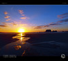 Golden River (tomraven) Tags: sunset sky clouds sun island silhouette reflections water river gold golden aravenimage q12018 fujifilm xs1