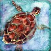 Sea Turtle Traveling (molossus, who says Life Imitates Doodles) Tags: hahnemühleusa seaturtle ocean watercolor