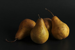 About as interesting as my prostrate! (Julian Menezes) Tags: 7dwf pears stilllife black blackbackground softlight
