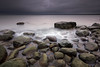 Gloomy evening (allan-r) Tags: boulders gloomy evening darkness beach sea water waves longexposure le gnd nd lahemaa rocks clouds fujifilm xt2 xf1024mm