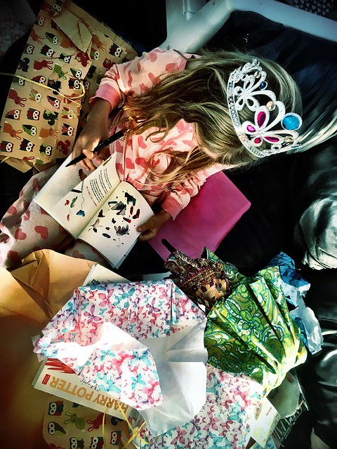 Ten year old Zoe, and her loot...