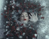 Neverending Winter (Maren Klemp) Tags: fineartphotography fineartphotographer darkart darkartphotography winter snow ice woman portrait selfportrait lake conceptual surreal dreamy dramatic outdoors nature naturallight ethereal evocative mysterious painterly color