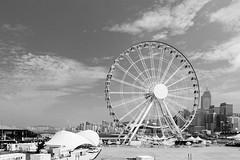 Hong Kong Observation Wheel (pablocba) Tags: hong kong asia sony ilce6000 a6000 emount lenses travel black white byn blanco negro observation wheel rueda
