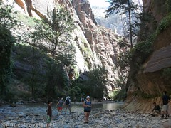 End of the trail; enter the river (Annes Travels) Tags: zionnationalpark utah zionnarrows canyon virginriver desert