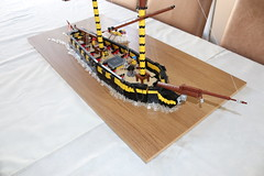 HMS Paladin - 18th Century Brig (spud_the_viking) Tags: hmspaladin corrington ship boat vessel navy history sailing sail cannon redcoat brig cruiser custom lego moc royal age 18th century mast rigging figurehead crew