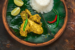 Shorshe Murgi | Mustard Chicken (Rimli D) Tags: foodstyling foodblog foodphotography foodblogger foodporn food foodpicture festivalfood festival chicken bengalifood bengalicurry bangladeshifood indianfood iamnikon indianstaples darkphotography moodphotography moodyshot desikhana