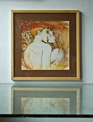 The Kiss (AnnaHannahArt) Tags: kiss love woman man boy girl couple romantic pair valentine marriage wedding erotic art drawing abstract realism watercolour painting gift