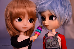 You want some ice cream? | Isuls Mao & Jimmy X (·Kumo~Milk·^^) Tags: isul isuls parco mao custom makeup eyelashes eyebrowns souta jimmyx doll junplanning groove wig rewigged rechipped eyechips gloss