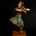 Muñeca de bailarina de danza tradicional Bharata Natyam
