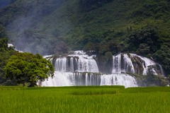 Největší vietnamský vodopád Ban Gioc (zcesty) Tags: vodopád vietnam20 strom pole krajina vietnam bangioc dosvěta caobằng vn