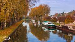 Rogny les 7 écluses en automne (touflou) Tags: canal canaux bateaux péniche loiret rognyles7écluses