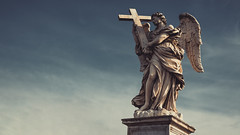 Angel with the Cross (A.Dissing) Tags: angel with cross god religious inscription cuius principatus super humerum eius ercole ferrata roma santangelo sculptures sculpture a7ii anders a7 amazing adventure art awesome a7m2 artistic angle sony sky scape dissing day young gray white blue