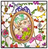 Bunnies in Love (ronniesz) Tags: chains timepiece flowers charms bows rabbits bunnies japanesecoloringbook adultcoloring