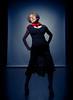 Lace skirt (Bruce M Walker) Tags: wife woman portrait mediumformat studio scarf red lowkey backlit decolletage lace skirt