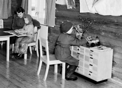 Kindergarten (theirhistory) Tags: children child boys kids desk room hat jacket wellies trousers table boots teacher class form school pupils students education