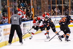 "Kansas City Mavericks vs. Cincinnati Cyclones, February 3, 2018, Silverstein Eye Centers Arena, Independence, Missouri.  Photo: © John Howe / Howe Creative Photography, all rights reserved 2018. • <a style=""font-size:0.8em;"" href=""http://www.flickr.com/photos/134016632@N02/39407448244/"" target=""_blank"">View on Flickr</a>"