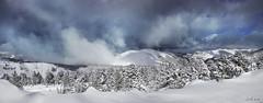 Grandeur et décadence (~Cess~) Tags: montagne montagnes pyrénées mountain mount mountains neige sno hiver ciel sky nuages nuage clouds cloud sapins winter explore