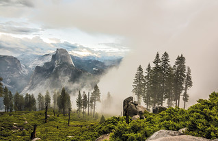 Yosemite Half Dome Glacier Point Breaking Storm! Nikon D810 Fine Art Landscape Photos: Ansel Adams & John Muir Country-- Eastern and Western Yosemite! Dr. Elliot McGucken Fine Art Nature Photography!