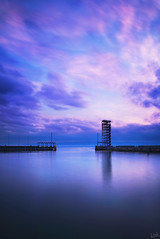 Long Exposure (johaennesy) Tags: longexposure purple evening friedrichshafen bodensee badenwürttemberg germany opensourcesoftware moleturm mole harbour clouds vertical