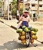 4 years ago in Cambodia. (France-♥) Tags: 5695 cambodia bicyclette bike transportation coconut people lifestyle asia road shadow ombre siemreap