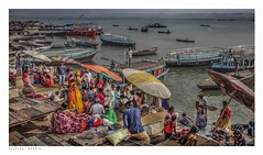 Varanasi, life on the Ghats. (Richard Murrin Art) Tags: varanasi lifeontheghatsindia richard murrin art photography canon 5d landscape travel images building cool
