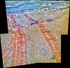 5000 Days of Tracks on Mars, variant (sjrankin) Tags: 20february2018 edited nasa mars rgb colorized opportunity bands257 tracks wheeltracks sand dust panorama endeavourcrater