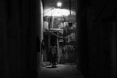 The shrine (heshaaam) Tags: muharraq alleyways slum light night bw bahrain