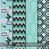 ArtDeco_Swimmers_Collection (vannina_sf) Tags: art deco swimming pool swimmers pattern aqua turquoise spoonflower collection fabric hexagons arcades marble texture ladies