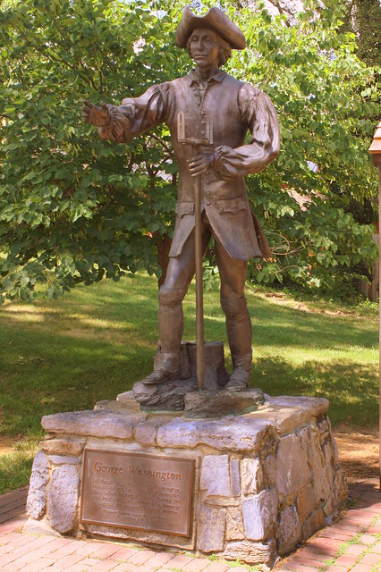 Young George Washington statue - Winchester, VA