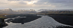 iceland land of fire and ice (scott1346) Tags: ice fire stream water landscape mountains clouds sunlit bustour overcast outdoors beauifuldestination iceland canont3i 1001nights 1001nightsmagiccity